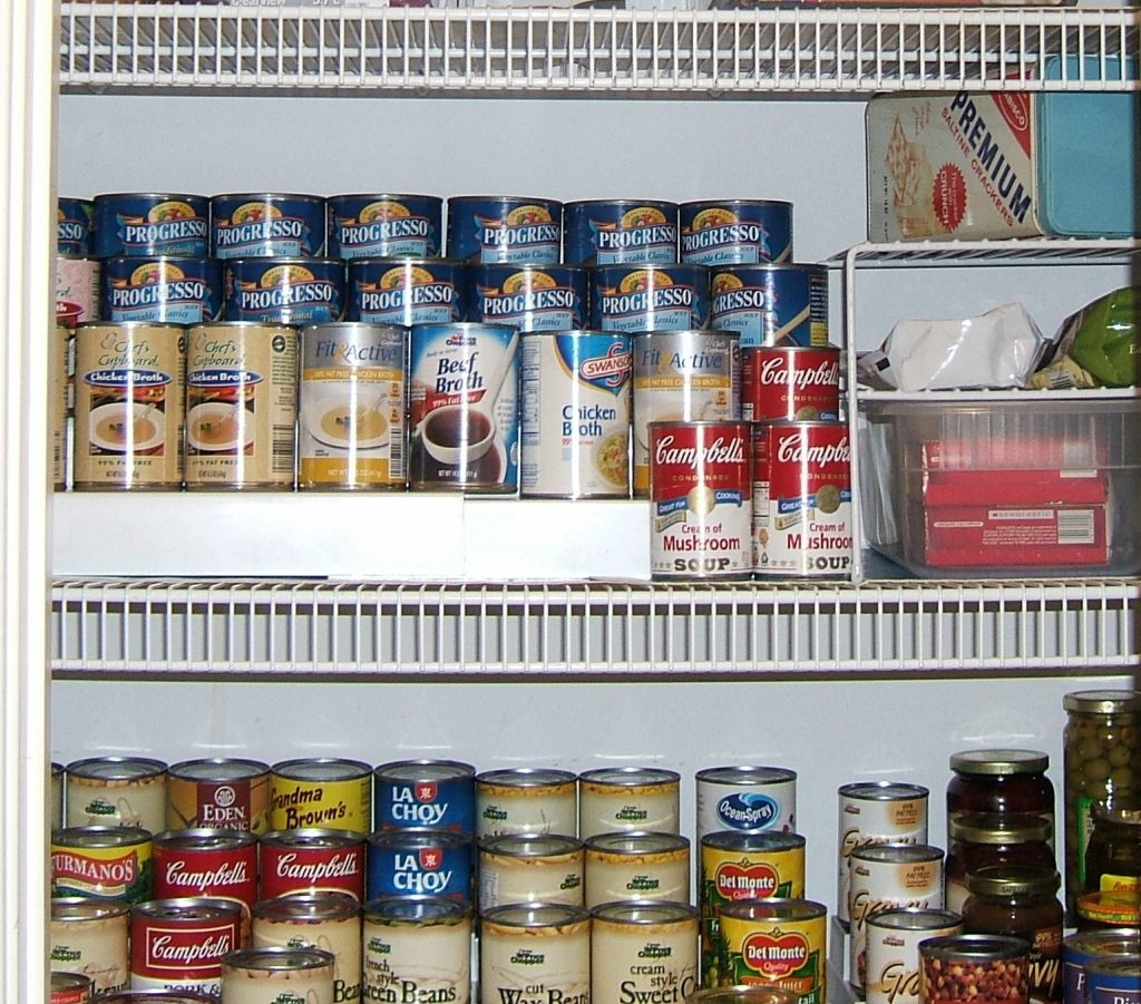organized pantry - Life Maid Simple residential and commercial cleaning services.
